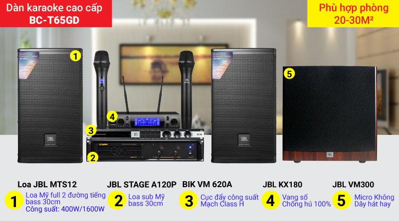 Dàn karaoke gia đình BC-T65GD chính hãng, giá rẻ nhất