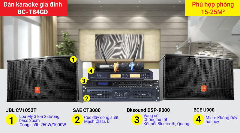 Dàn karaoke gia đình BC-T84GD chính hãng, giá rẻ