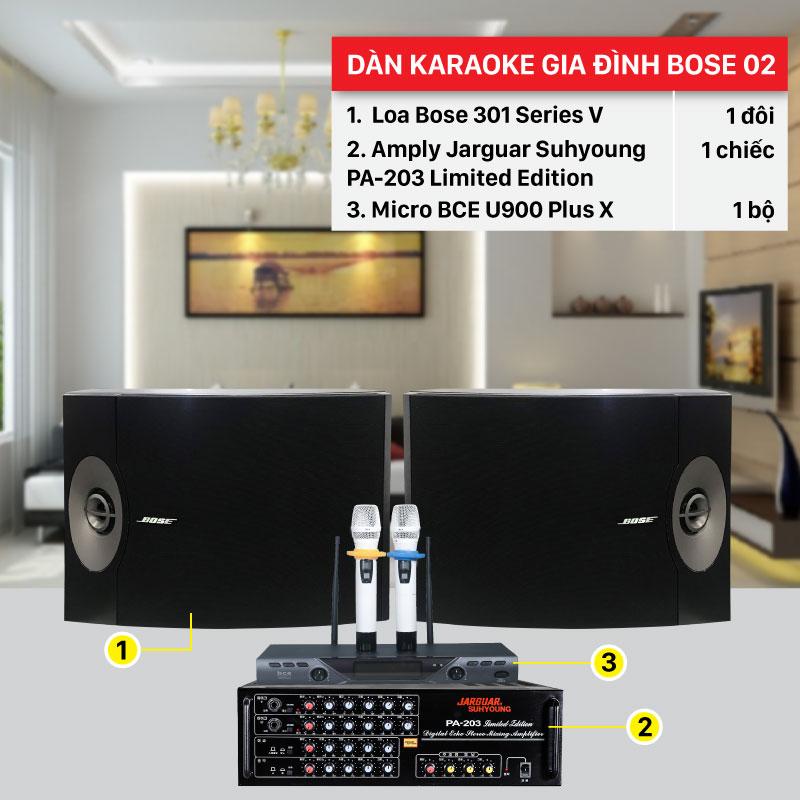 Dàn karaoke gia đình Bose 02 chính hãng, giá rẻ nhất