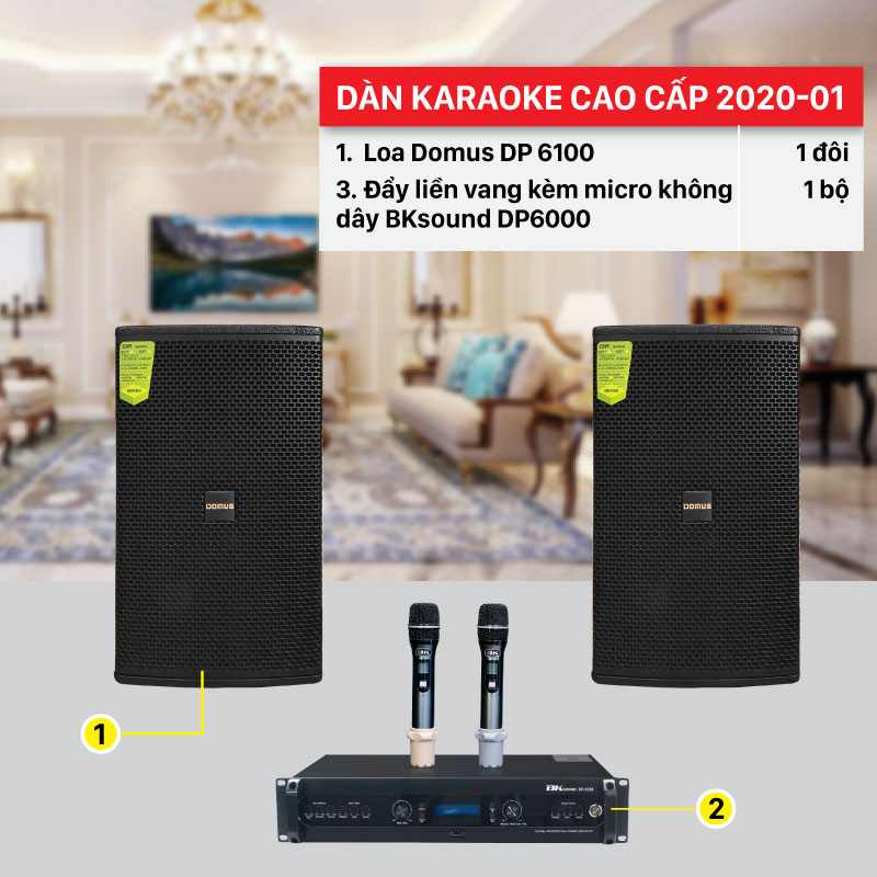 Dàn karaoke gia đình cao cấp giá rẻ, âm thanh hay