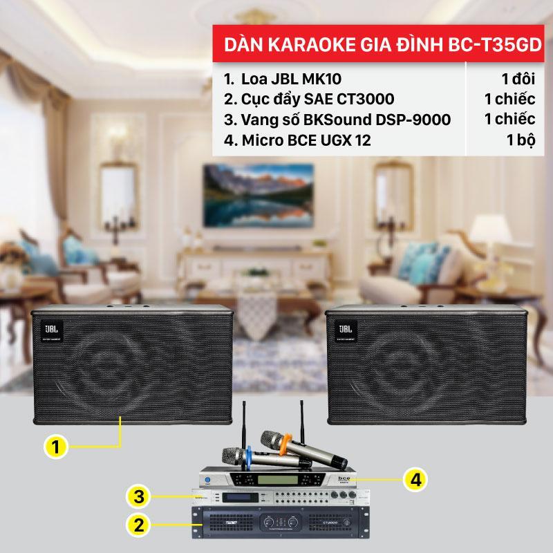 Dàn karaoke gia đình BC-T35GD giá rẻ
