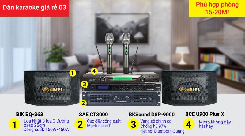 Dàn karaoke giá rẻ 03 chính hãng, hiện đại