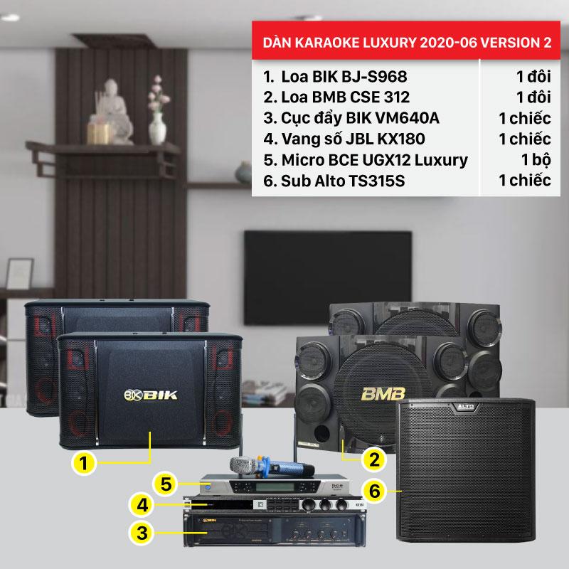 Dàn karaoke Luxury 2020-06 Version 2 cấu hình hiện đại, hàng chính hãng