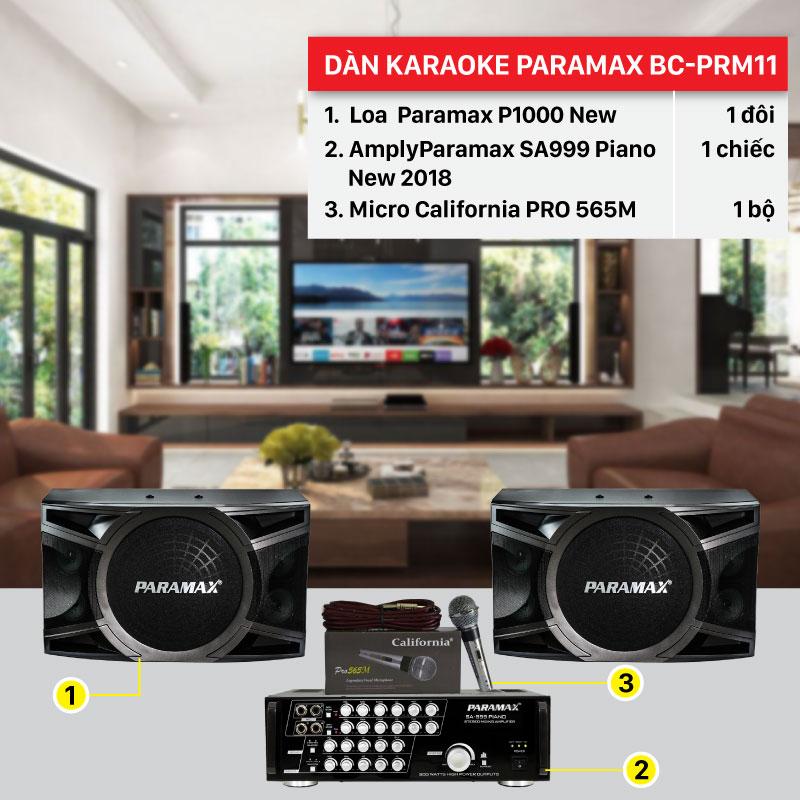 Dàn karaoke Paramax BC-PRM11 cấu hình hiện đại, giá rẻ nhất