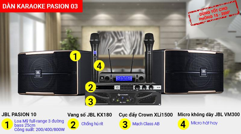 Dàn karaoke JBL Pasion hát hay giá rẻ