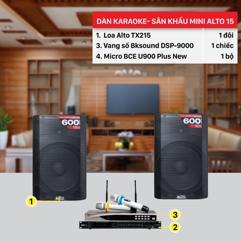 Dàn karaoke Sân khấu Mini Alto 15 chính hãng, giá rẻ nhất thị trường