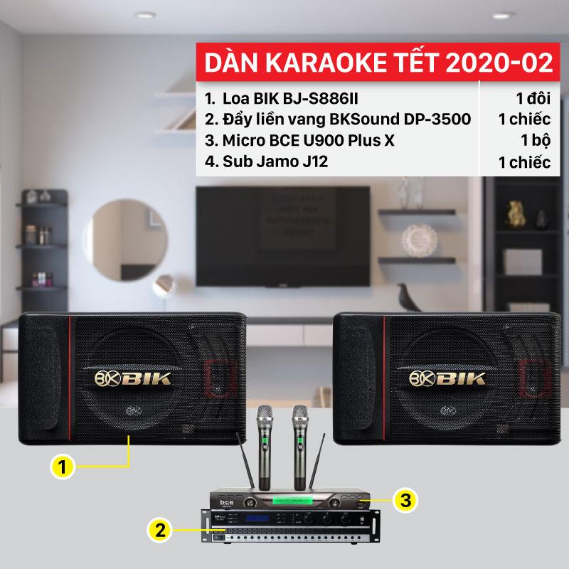 Dàn karaoke Tết 2020-02 cấu hình hiện đại, giá rẻ nhất thị trường