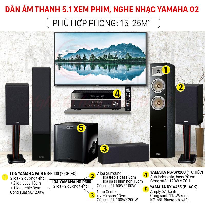 dàn âm thanh 5.1 yamaha 02 giá rẻ