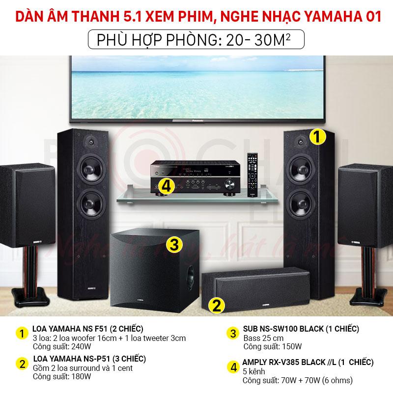 Dàn âm thanh 5.1 yamaha giá rẻ