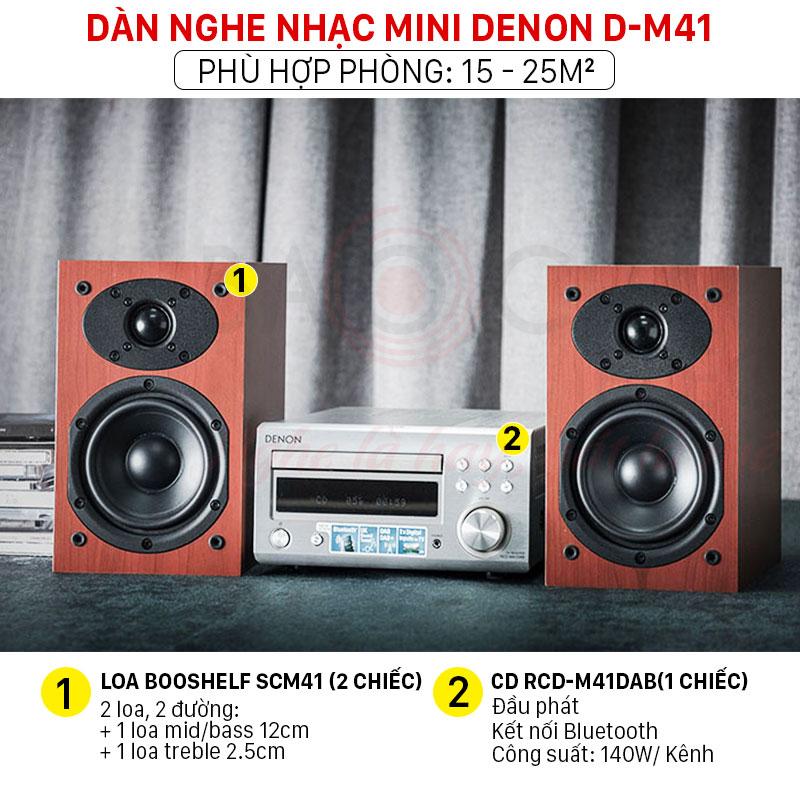 dàn nghe nhạc mini Denon D-M41