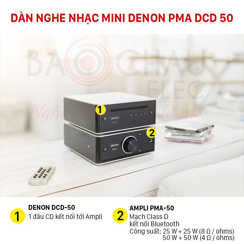 Dàn nghe nhạc mini Denon giá rẻ nhất thị trường