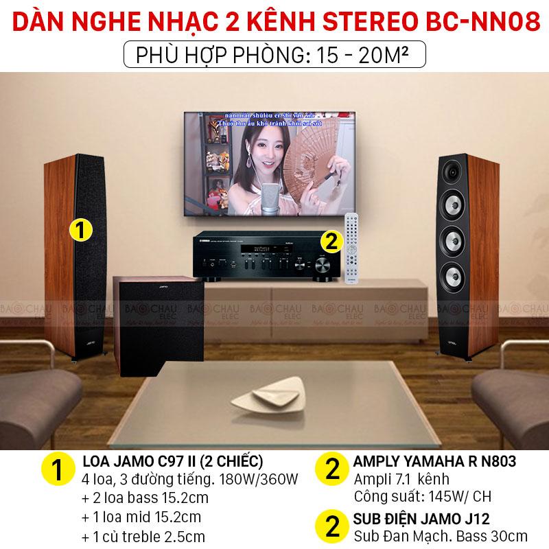 Dàn nghe nhạc 2 kênh Stereo BC-NN08 chính hãng, giá tốt