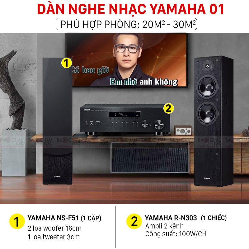 Dàn nghe nhạc Yamaha 01 nghe nhạc hay, giá tốt nhất