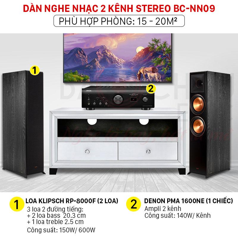dàn nghe nhạc 2 kênh stereo chính hãng giá tốt