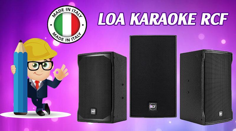 Loa karaoke RCF nổi bật trong từng đường nét thiết kế