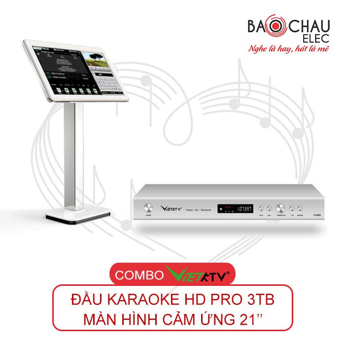 Combo VietKTV HD PRO 3TB + Màn hình 21 inch chính hãng, giá rẻ