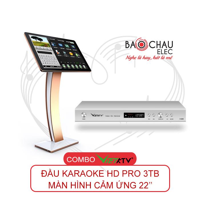 Combo VietKTV HD PRO 3TB + Màn hình 22