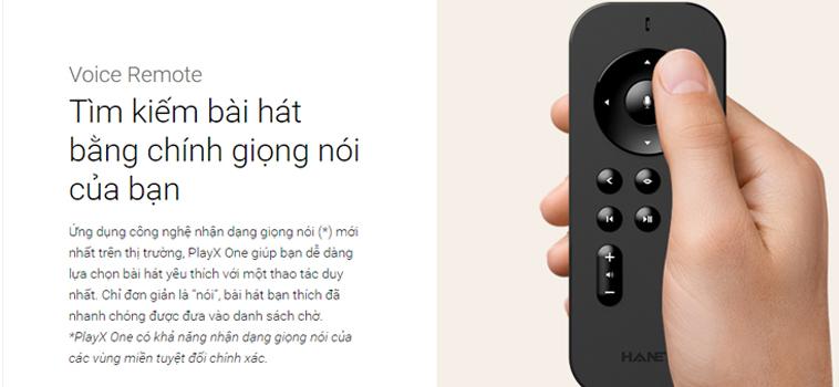 đầu karaoke Hanet Playx One 2TB tìm kiếm giọng hát bằng giọng nói