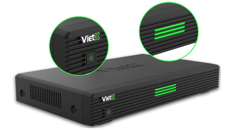 Đầu VietK 4K Plus 4TB thiết kế đặp mắt
