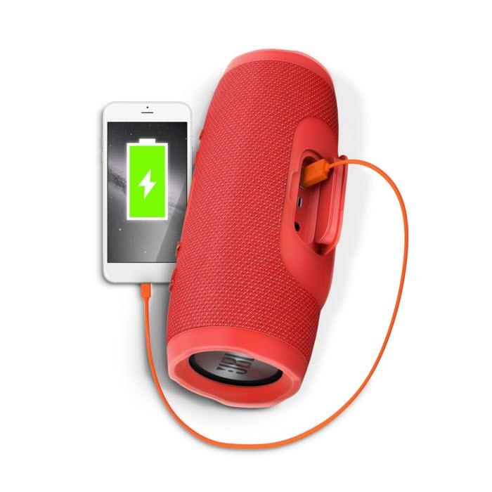Loa JBL Charge 3 có chế độ sạc pin
