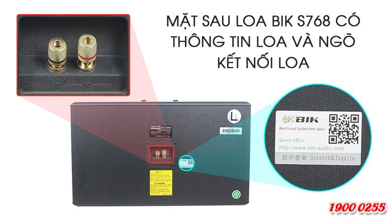 Loa BIK BJ S768 đầy đủ cổng kết nối