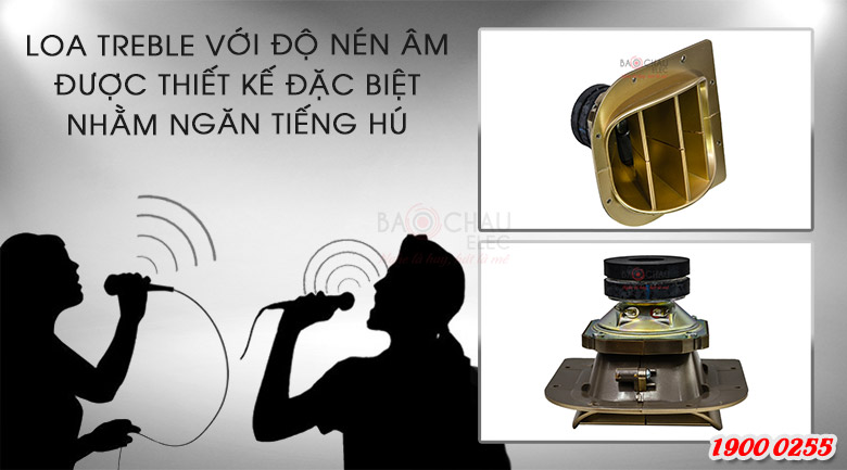 Loa BMB CSV 900 (C) like new có loa trbele với độ nén được thiết kế đặc biệt ngăn tiếng hú