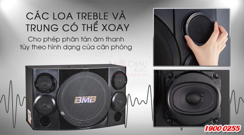 Các củ loa treble và trung của BMB CSE-312SE có thể xoay chuyển để tạo ra âm thanh hay hơn