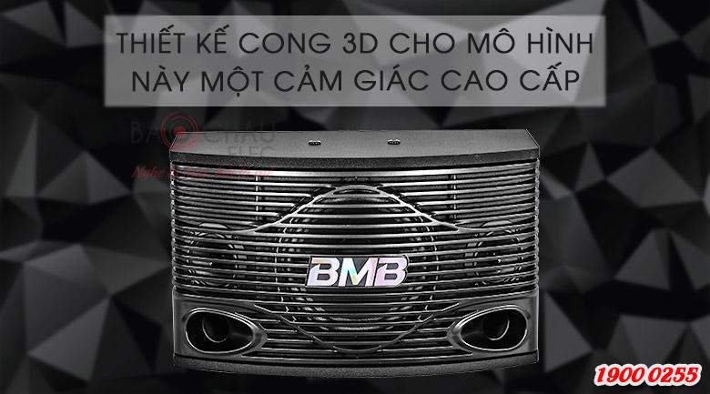 Loa karaoke CSN 500SE với thiết kế bo tròn 3D mặt trước