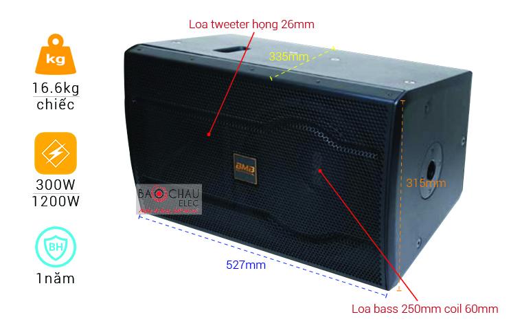 Loa BMB CSS 2010C Like new và các thông số