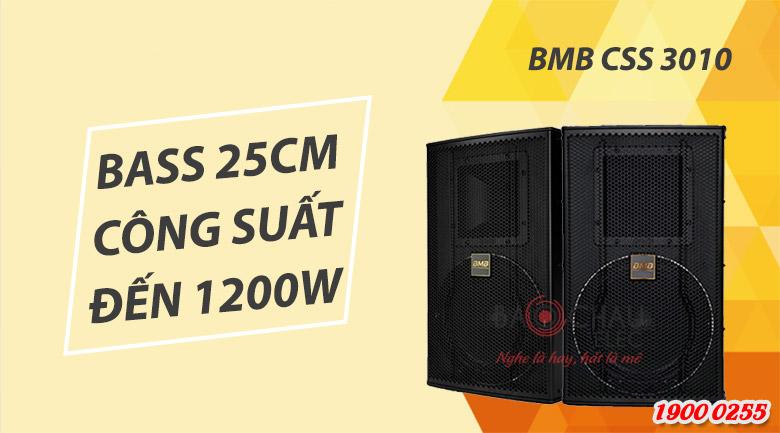 Loa BMB CSS 3010 sở hữu bass loa 25cm, công suất đạ tới 1200W