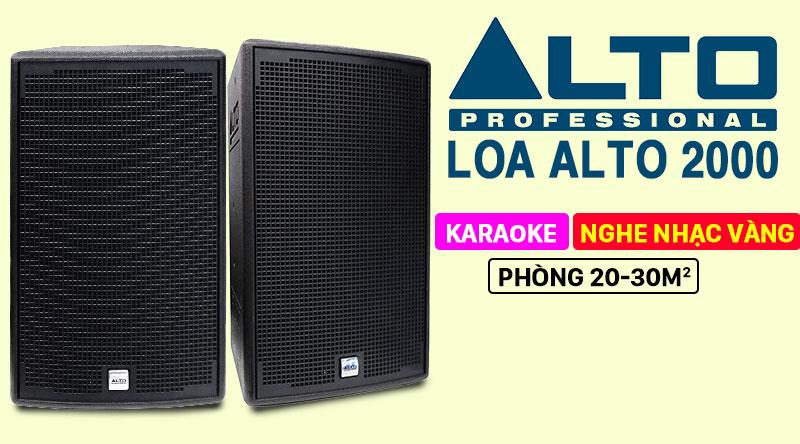Loa karaoke Alto AT2000 thương hiệu Mỹ