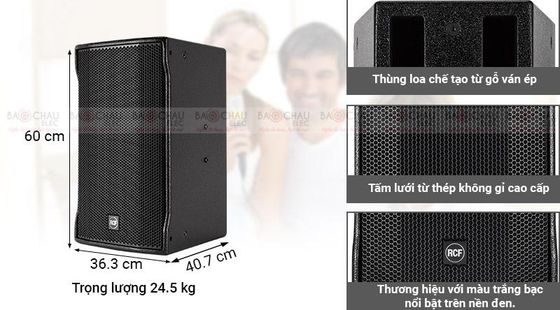 Mặt sau Loa karaoke RCF C MAX 4112
