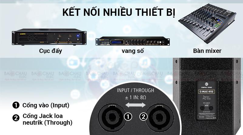 Loa karaoke RCF C MAX 4112 dễ dàng phối ghép với các thiết bị khác