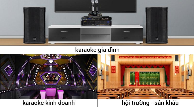 Loa karaoke RCF C MAX 4112 dùng cho nhiều mục đích khác nhau