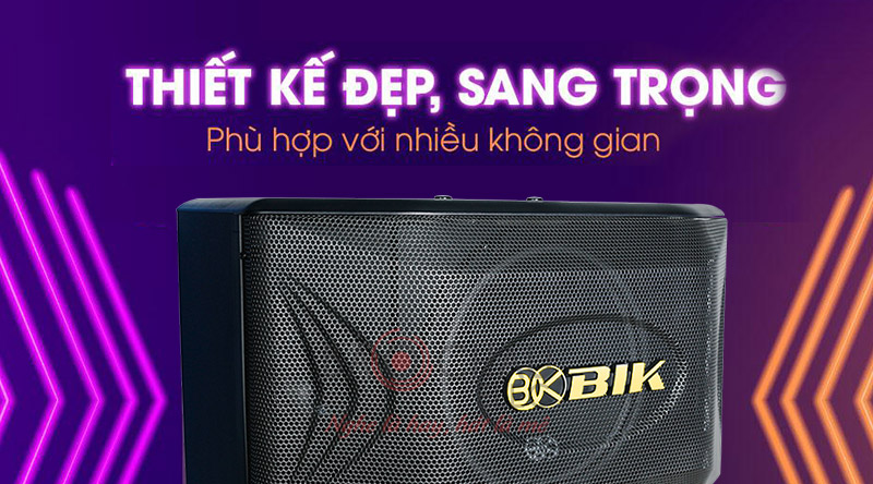 Loa karaoke BIK BQ S63 thiết kế đẹp