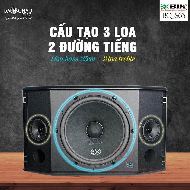 Loa BIK BQ-S63 cấu tạo 3 loa, 2 đường tiếng