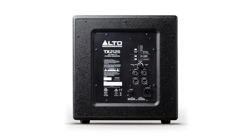 Loa sub Alto TX212S hệ thống cổng kết nối dễ dàng phối ghép
