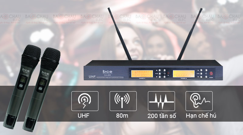 Micro không dây bce u900 giá rẻ, hát nhạy