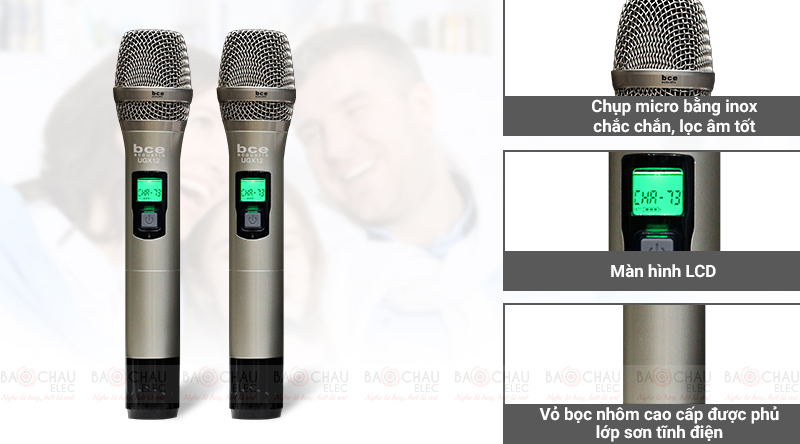 Micro không dây BCE UGX12 chụp mic có khả năng lọc âm tốt