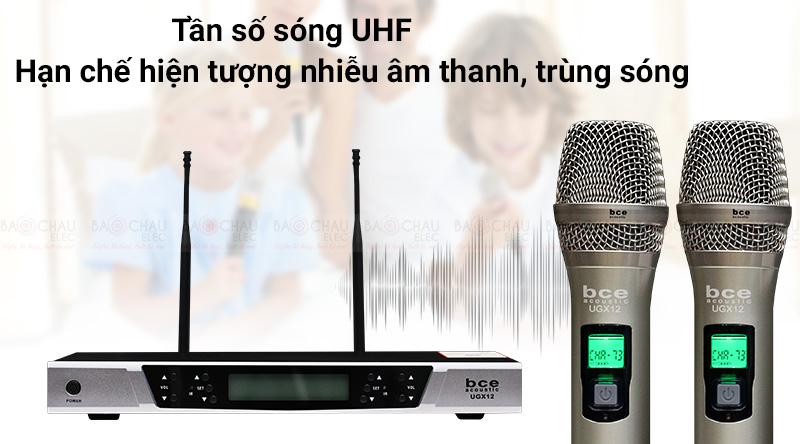 Micro không dây BCE UGX12 sử dụng sóng UHF siêu cao