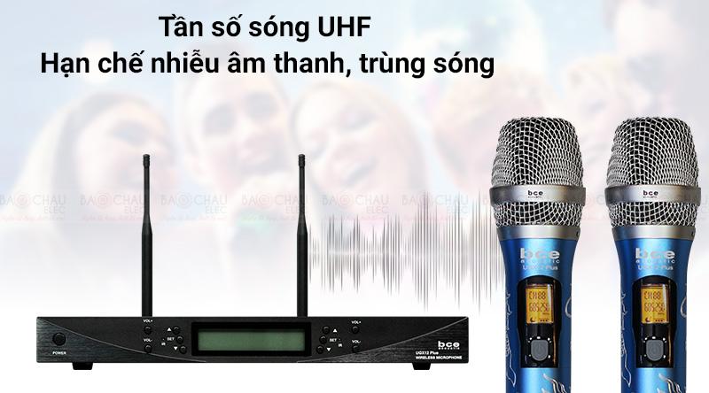 Micro không dây BCE UGX12 Plus Luxury thu sóng nhạy bén