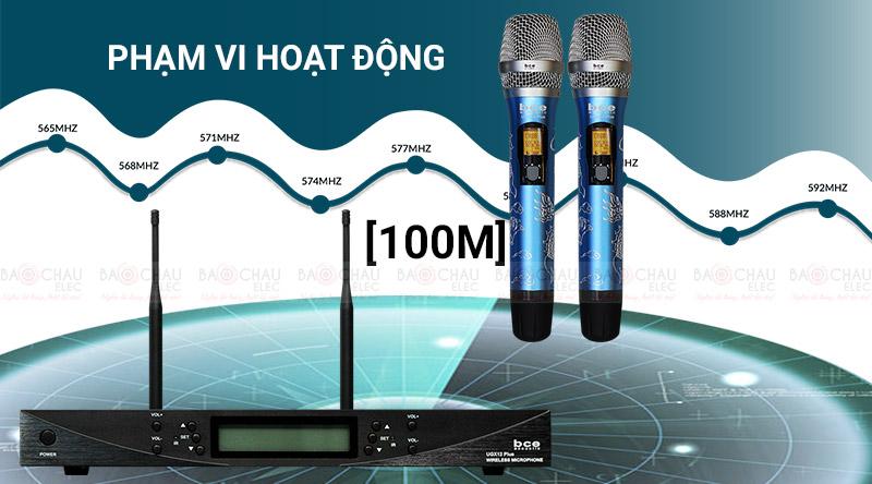 Micro không dây BCE UGX12 Plus Luxury hoạt động trong phạm vi rộng