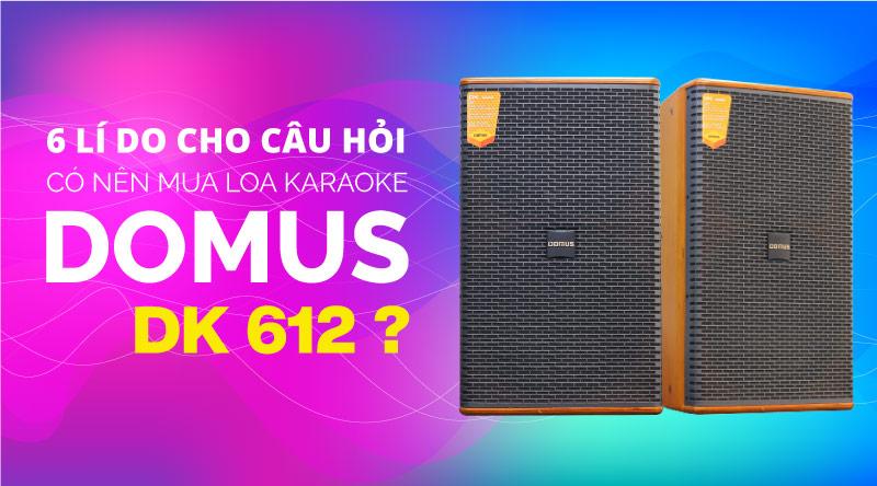 6 lý do cho câu hỏi: Có nên mua loa karaoke Domus DK 612?