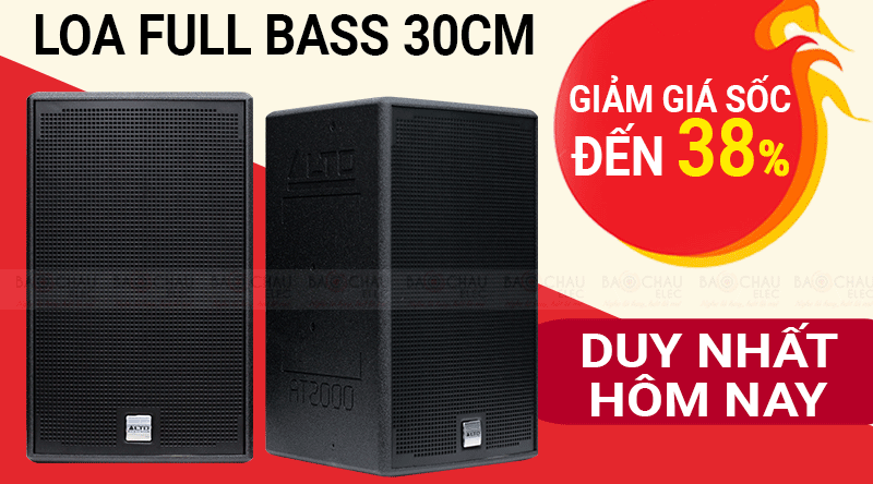 LOA Full Bass 30cm giảm giá SỐC đến 38% - DUY NHẤT HÔM NAY