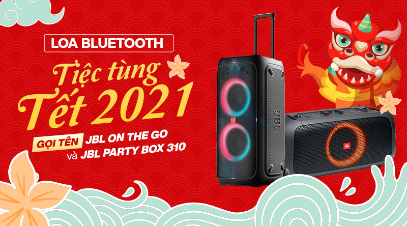 Loa bluetooth tiệc tùng cho Tết 2021: Gọi tên JBL On The Go và JBL Party Box 310