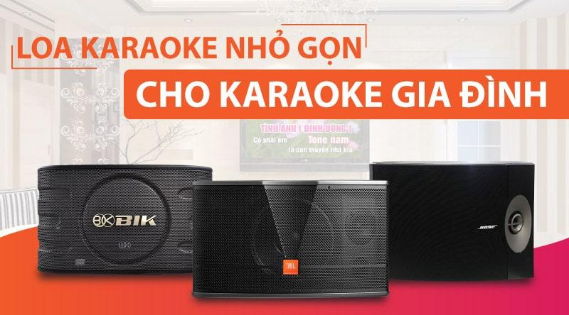 Loa karaoke ngang truyền thống nhỏ gọn cho gia đình