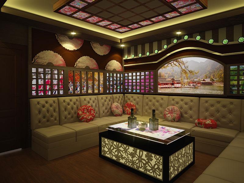 Phòng karaoke phong cách Nhật Bản h2