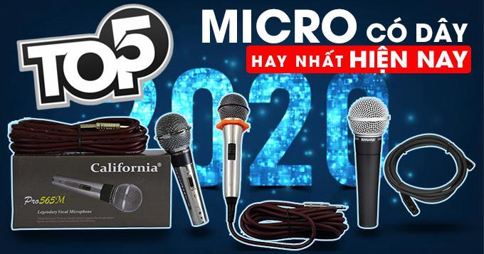 Top 5 sản phẩm micro hay nhất hiện nay