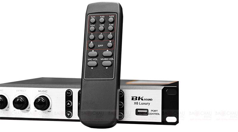 Vang số Bksound X6 Luxury có điều khiển từ xa đi kèm