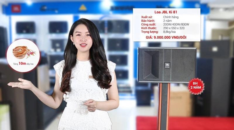 Loa karaoke JBL Ki81 ( Ba Sao)